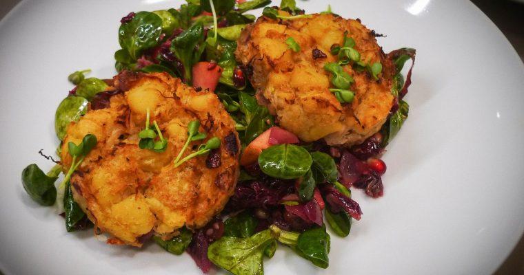 Puffer vom Sauerkraut und Kartoffeln